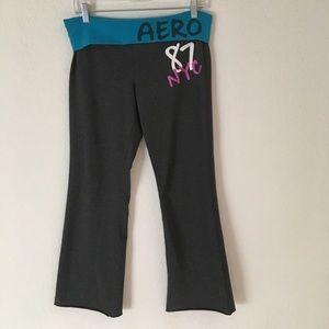 A E AERO high-waisted wide-leg yoga pants L